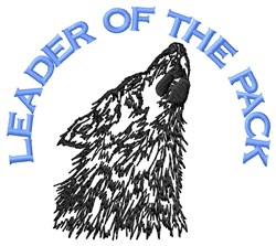 Wolf Pack Leader embroidery design