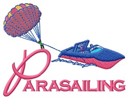 Parasailing Boat embroidery design