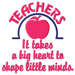 Apple Heart Of Teacher embroidery design