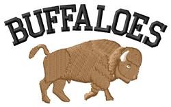 Buffaloes embroidery design