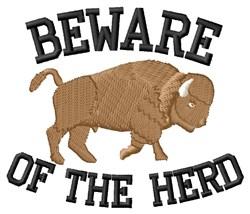 Violent Bison Herd embroidery design