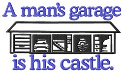 Garage Castle embroidery design