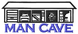 Man Cave embroidery design