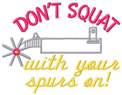 Spurs On embroidery design