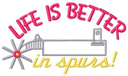 Life In Spurs embroidery design