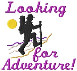 Adventure Of A Mountaineer embroidery design