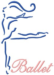 Ballet With Music embroidery design