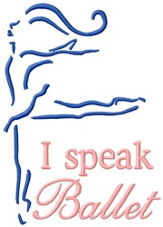 Ballet Speaking Girl embroidery design
