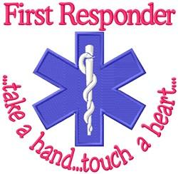 First Responder EMT embroidery design