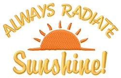 Radiate Sunshine embroidery design