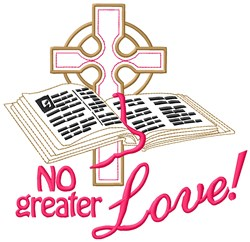Bible And Cross embroidery design