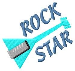 Guitar Rock Star embroidery design