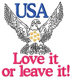 Proud American Eagle embroidery design