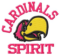 Cardinals Team Spirit embroidery design