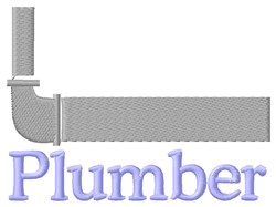Plumber & Pipe embroidery design