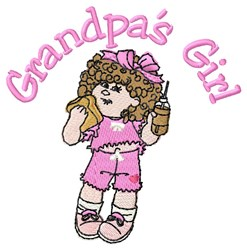 Grandpas Girl embroidery design