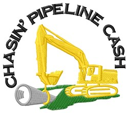 Pipelining Cash embroidery design