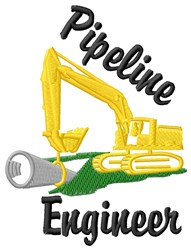 Engineer Your Pipeline embroidery design