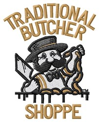 Traditional Butcher Shoppe embroidery design