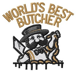 Worlds Best Butcher embroidery design