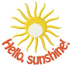 Hello My Sunshine embroidery design