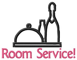 Room Service embroidery design