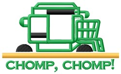 Chomp Chomp Tractor embroidery design