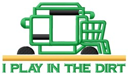 Tractor Play In Dirt embroidery design