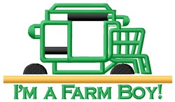 Farm Boy Tractor embroidery design