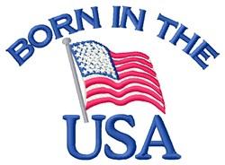 The USA Flag embroidery design
