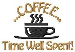 Coffee Time Now embroidery design