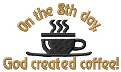 Creation Of Coffee embroidery design