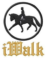 Walk With My Horse embroidery design