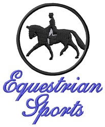 Equestrian Sports embroidery design