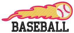 Baseball Heat embroidery design