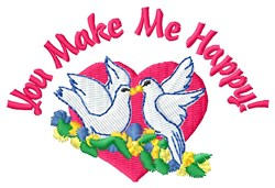 Love Makes Heart Happy embroidery design