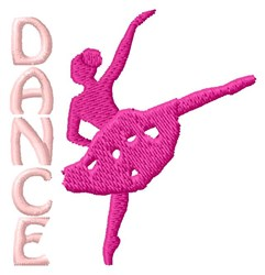 Dance embroidery design