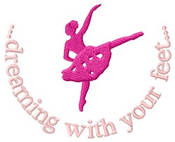 Dreaming While Dancing embroidery design