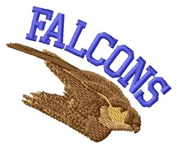 Falcons embroidery design