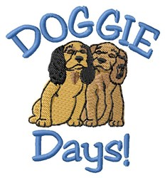 Dog Days embroidery design