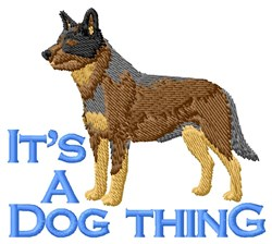Austrailan Shepherd Thing embroidery design