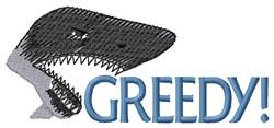 Greedy Shark embroidery design