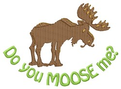 Moose Me embroidery design