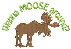 Moose Around embroidery design