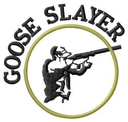 Goose Hunter embroidery design