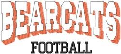 Bearcat Football embroidery design