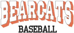 Bearcats Baseball embroidery design