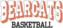 Bearcats Basketball embroidery design