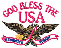 God Bless USA embroidery design