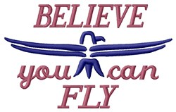 Believe embroidery design
